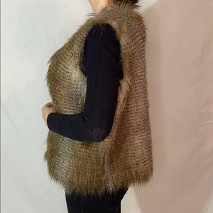 Women's fur vest waistcoat sleeves jacket
